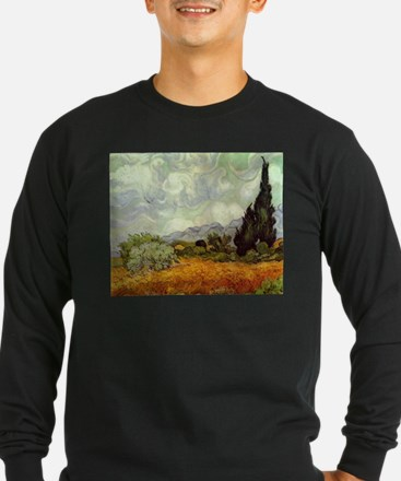 Wheat Field with Cypresses T
