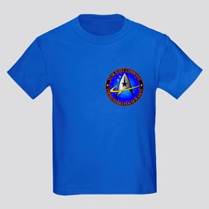 Star Fleet Command Kids Dark T-Shirt