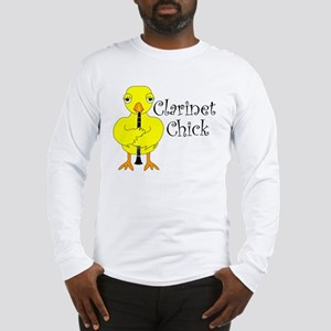 Clarinet Chick Text Long Sleeve T-Shirt