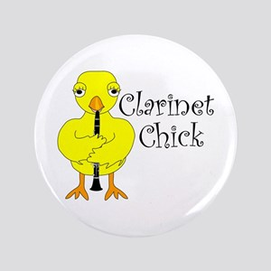 """Clarinet Chick Text 3.5"""" Button"""