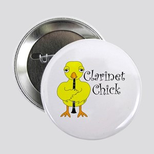 """Clarinet Chick Text 2.25"""" Button"""