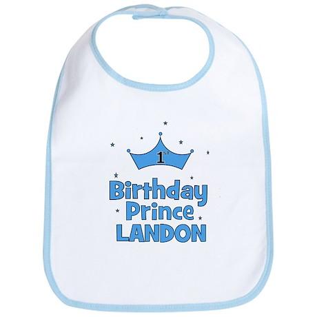 1st Birthday Prince Landon! Bib