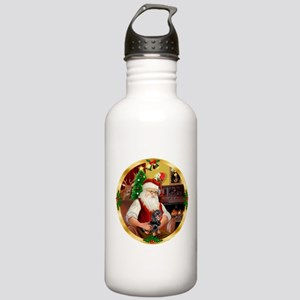 Santa's Dachshund #4 Stainless Water Bottle 1.0L
