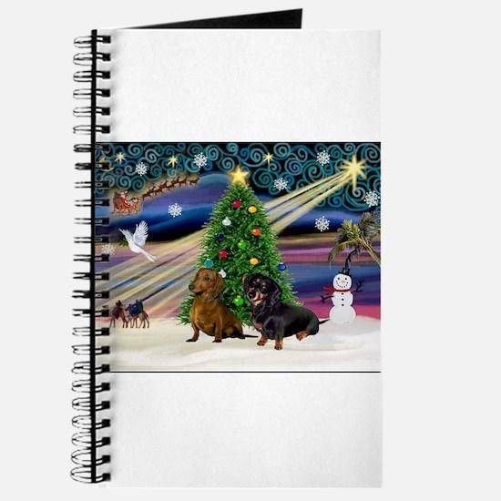 Xmas Magic & Doxie Pair Journal