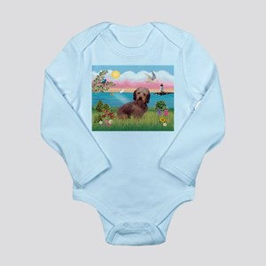 Lighthouse / Dachshund Long Sleeve Infant Bodysuit