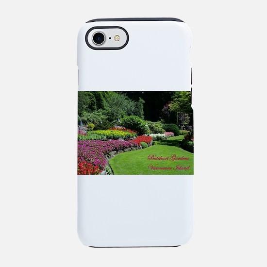 Flowers 2 BG, VI iPhone 7 Tough Case