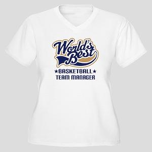 Basketball Team Manager Women's Plus Size V-Neck T