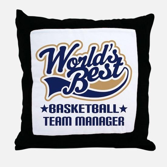 Basketball Team Manager Throw Pillow