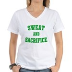 Sweat and V2 Women's V-Neck T-Shirt