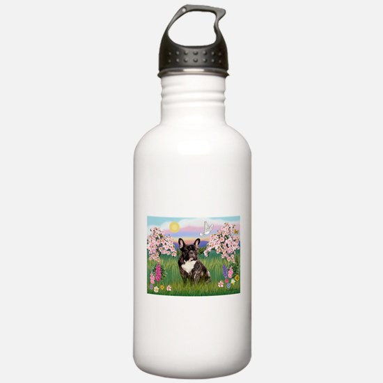Blossoms & French Bulldog Water Bottle