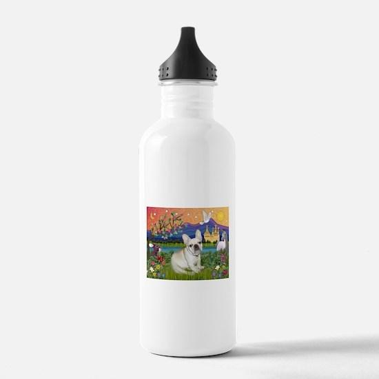 French Bulldog in Fantasyland Water Bottle