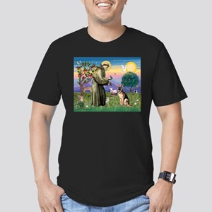 St Francis & G-Shepherd #2 Men's Fitted T-Shirt (d