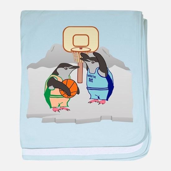 Penguin Basketball baby blanket
