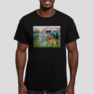 Garden Angel / Golden Sticker Men's Fitted T-Shirt