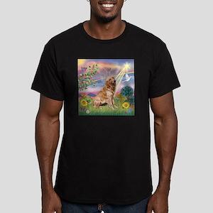 Cloud Angel / Golden Men's Fitted T-Shirt (dark)