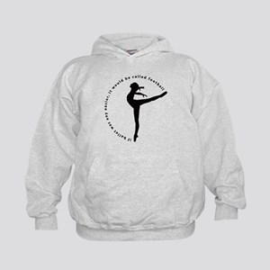 If ballet was any easier... Kids Hoodie