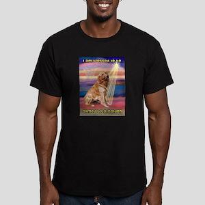 Blessed Golden Men's Fitted T-Shirt (dark)