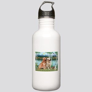 Birches / Golden Stainless Water Bottle 1.0L