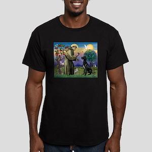 St Francis / Black G-Dane (N) Men's Fitted T-Shirt