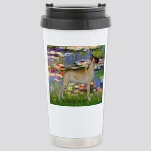 Monet's Lilies & Great Dane Stainless Steel Travel