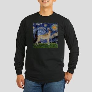 Starry Night Great Dane Long Sleeve Dark T-Shirt