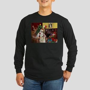 Santa's Great Pyrenees Long Sleeve Dark T-Shirt