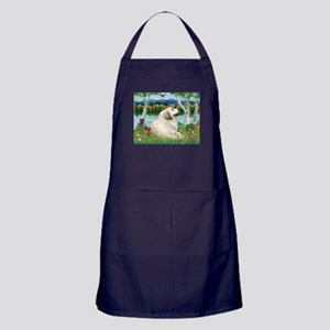 Country Birches & Great Pyrenees Apron (dark)