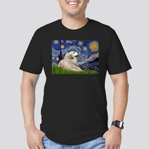 Starry Night Great Pyrenees Men's Fitted T-Shirt (