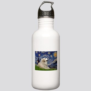 Starry Night Great Pyrenees Stainless Water Bottle