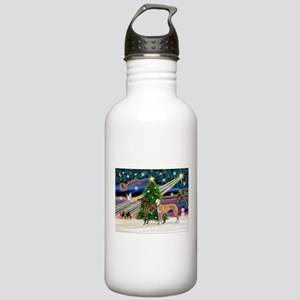 XmasMagic/2Greyhounds Stainless Water Bottle 1.0L