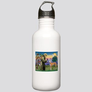 St Francis / Greyhound (f) Stainless Water Bottle