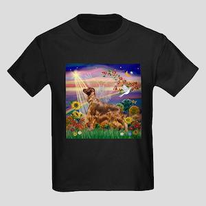 Autumn Angel / Irish Setter Kids Dark T-Shirt