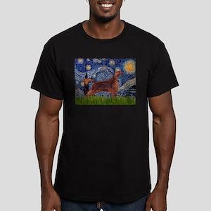 Starry Night Irish Setter Men's Fitted T-Shirt (da