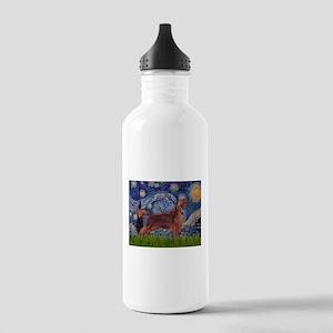 Starry Night Irish Setter Stainless Water Bottle 1