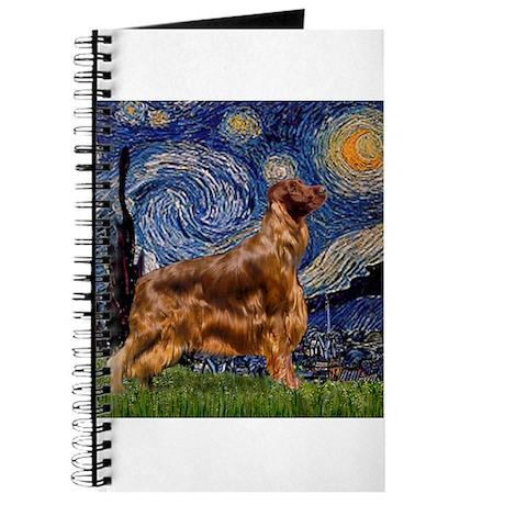 Starry Night Irish Setter Journal