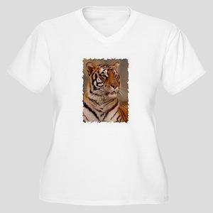Regal Pose Women's Plus Size V-Neck T-Shirt