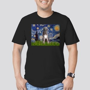 Starry/Irish Wolfhound Men's Fitted T-Shirt (dark)