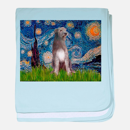 Starry/Irish Wolfhound baby blanket