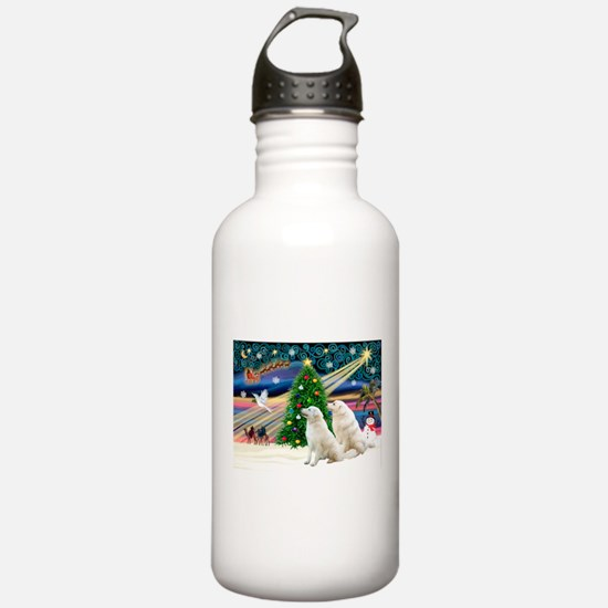 Xmas Magic & Kuvasz Water Bottle