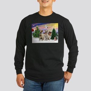 Treat for 2 Yellow Labs Long Sleeve Dark T-Shirt