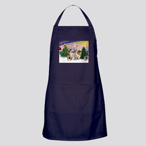 Treat for 2 Yellow Labs Apron (dark)