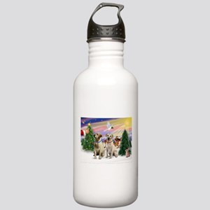 Treat for 2 Yellow Labs Stainless Water Bottle 1.0