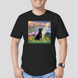 Cloud Angel & Black Lab Men's Fitted T-Shirt (dark