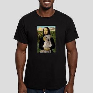 Mona & her Yellow Lab Men's Fitted T-Shirt (dark)