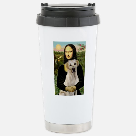 Mona & her Yellow Lab Stainless Steel Travel Mug