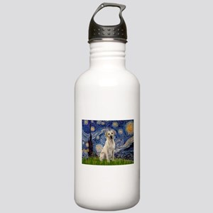 Starry Night Yellow Lab Stainless Water Bottle 1.0