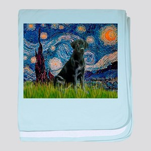 Starry Night Black Lab baby blanket