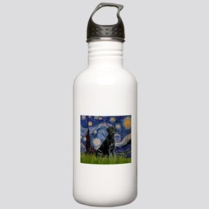 Starry Night Black Lab Stainless Water Bottle 1.0L
