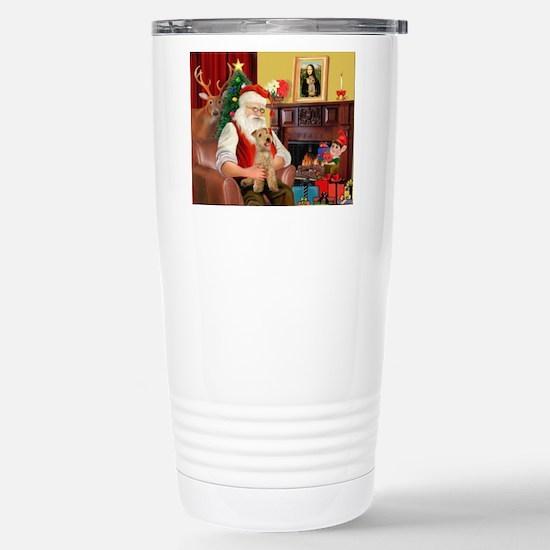 Santa/Lakeland Terrier Stainless Steel Travel Mug