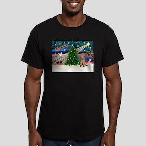 XmasMagic/Lakeland Ter Men's Fitted T-Shirt (dark)